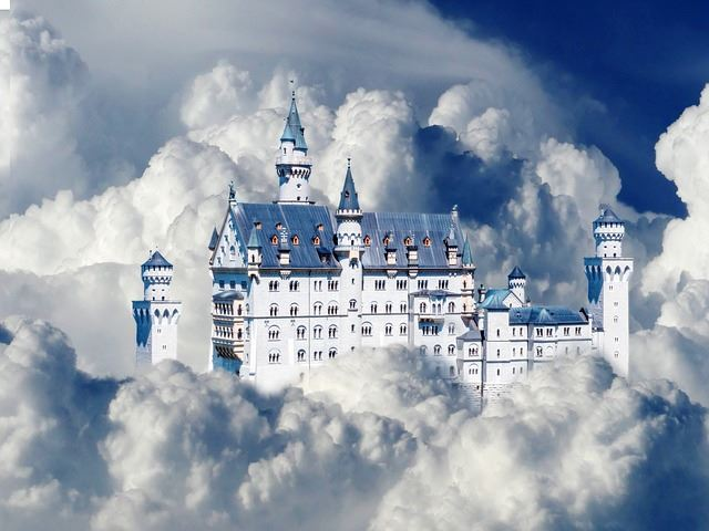Castle and clouds